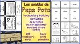 Los Sonidos de Pepe Pato Vocabulary Building Activities