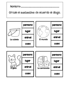 Nouns in Spanish / substantivos