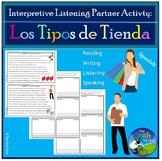 Los Tipos de Tiendas - Shopping - Interpretive Listening Act.