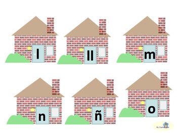 Los cerditos y el alfabeto ( Letras mayúsculas y minúsculas)
