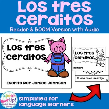 Los Tres Cerditos ~ Simplified Three Little Pigs Spanish reader & Vocab Work