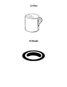 Los Utensilios y la Mesa Flashcards and Activity (Utensils/Table setting)