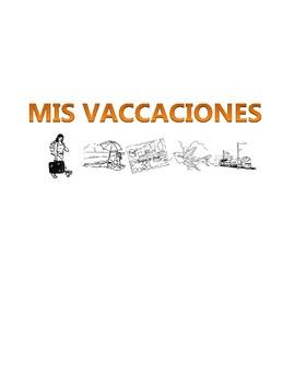 Los Vaccaciones - Spanish Vacation Writing Activity