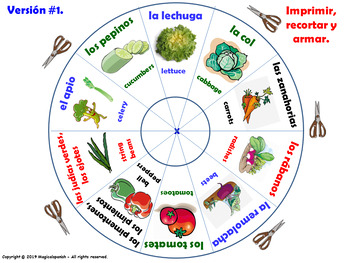 Los Vegetales / Vegetables in Spanish