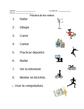 Los Verbos - Matching Verbs in Spanish