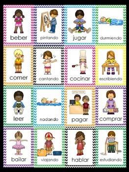 Los Verbos/Verb Cards In Spanish