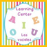 Las Vocales - Spanish reading center Perfect for Dual Language