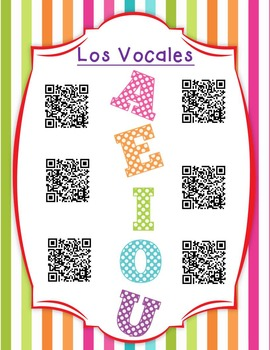 Las Vocales - Spanish reading center Perfect for Dual Language