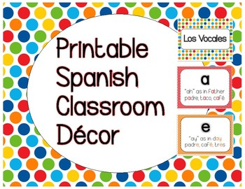 Spanish Classroom Decor, The Vowels in Spanish