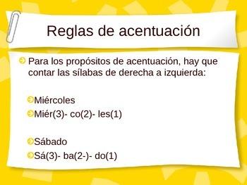 Los acentos | El acento escrito | Reglas | Spanish accents | PowerPoint