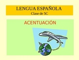 Los acentos- The accents in Spanish