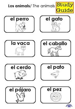 Los animales 1st grade