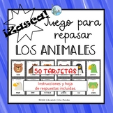 Los animales Animals in Spanish Juego Zasca Game