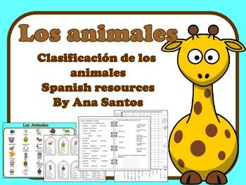 Los animales- Clasificación de los animales- Spanish resources