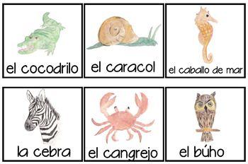 Los animales Spanish Unit