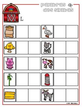 Los animales andan sueltos - Práctica de silabas #1