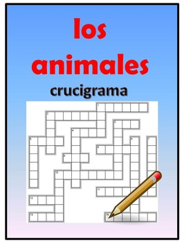 Los animales crossword puzzle