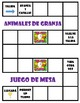 Los animales de granja - Board Game + Free Make-Your-Own (Blank) Version