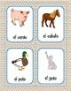 Los animales de granja y las mascotas (Descripcion) - Juego de correspondencias