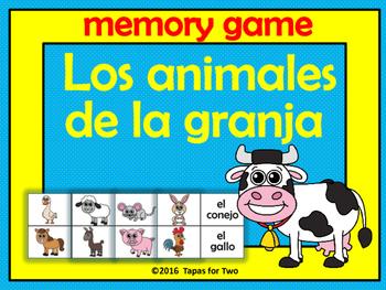 Los animales de la granja Memory game