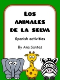 Los animales de la selva- Spanish resources