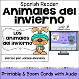Los animales del invierno ~ Spanish Winter Animals Reader + BOOM™ with audio