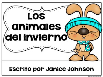 Los animales del invierno ~ Spanish Winter Animals Reader + BOOM™ with audio