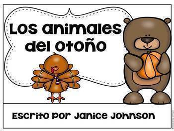 Los animales del otoño ~ Fall animals ~ Readers for autumn {Bilingual w BOOM}