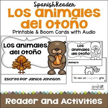 Los animales del otoño Readers {Fall Autumn animals} & BOOM paperless w/audio