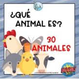Los animales digital cards in Spanish Distance learning Bo