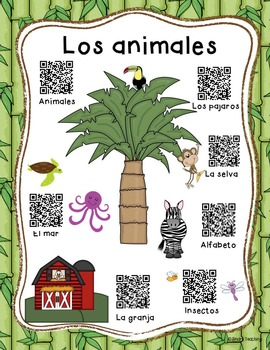 Los animales en español - Students Learn Animal names in Spanish