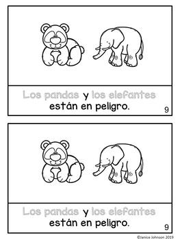 Los animales en peligro /Endangered Animals Readers & BOOM versions {Bilingual}