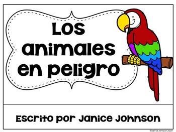 Los animales en peligro ~Spanish Endangered Animals Reader & BOOM Distance Learn