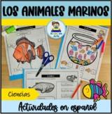 Los animales marinos | Actividades en español | The Ocean Animals in Spanish
