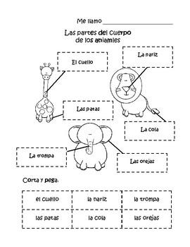 Los animales-partes del cuerpo