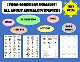 Los animales salvajes - Worksheet + Games - Resource Bundle 30% Discount