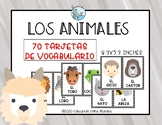 Los animales tarjetas de vocabulario - Animals flashcards SPANISH