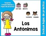 Los Antónimos Tarjetas y Más-Spanish Antonym Cards  and More