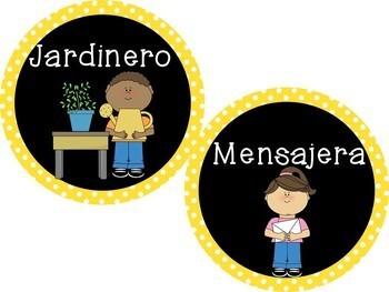 Classroom jobs/Los ayudantes de la clase