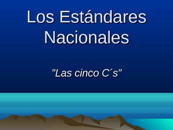 """""""Los cinco cs de los estándares nacionales de lenguas"""""""