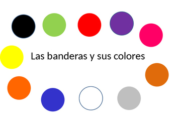 Los colores: A communicative guessing game using flags of Spanish speaking world