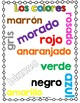 Los colores Coloring activities and posters