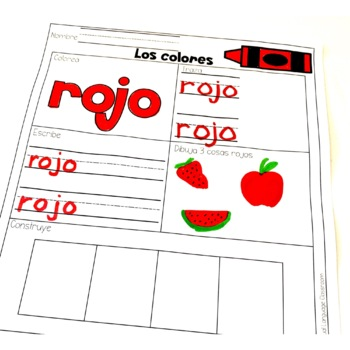Los colores - Colors in Spanish