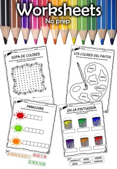 Colors. No prep. worksheets