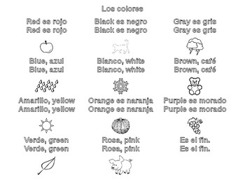 Los colores - Song and Coloring Sheet