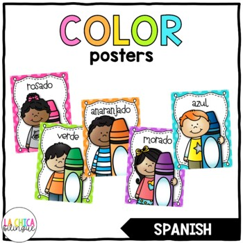 Los Colores (Spanish Color Posters) - Polka Dots