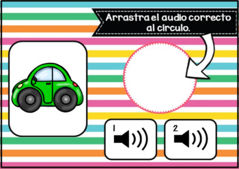 Los colores ~ Spanish Colors Vocabulary Digital BOOM™ Task Cards with Audio