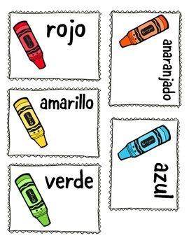 Los colores - Vocabulary Cards