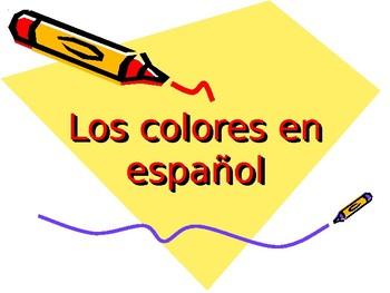 Los colores en español - The colors in Spanish