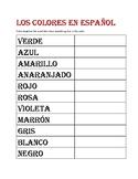 Los colores en español(colors in spanish)